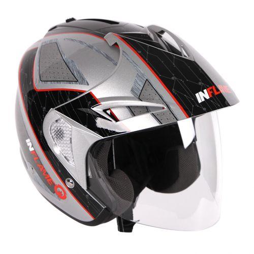 Шлем открытый INFLAME PALADIN INNERCITY с козырьком, черно-серый